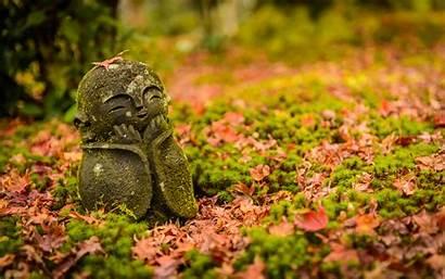 Fall Japan Garden Desktop Enkoji Temple Statue