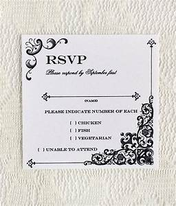vintage iron lace square rsvp template download print With rsvp wedding template