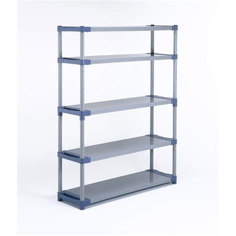 etagère résine grosfillex 5 tablettes gris bleu