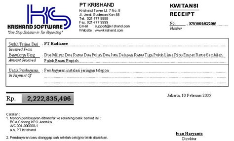 software pembuat kwitansi it dan security audit