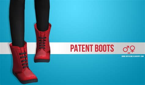 patent combat boots  onyx sims sims  updates