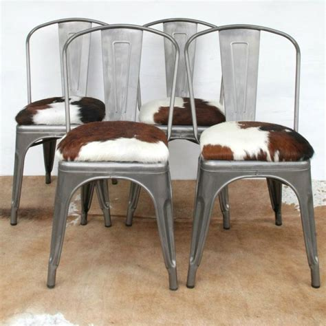 Cowhide Dining Chairs Uk - cows limited you choose the hide tolix style