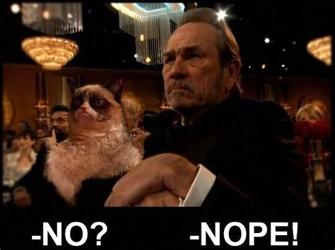 Tommy Lee Jones Meme - grumpy cat and tommy lee jones
