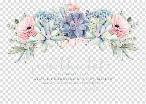 multicolored flowers illustration wedding invitation save