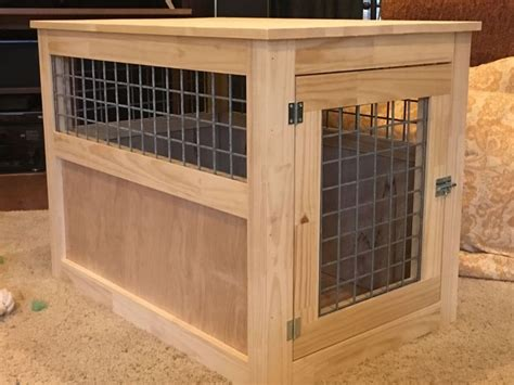 slightly altered large dog kennel  table