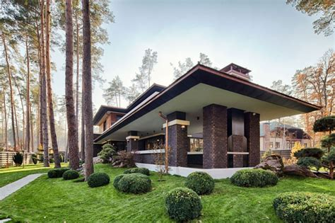 prairie home architecture a f l wright inspired contemporary home