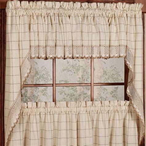 Kitchen Curtains At Kmart by Adirondack Cotton Kitchen Window Curtains Toast Tiers