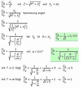Dämpfung Berechnen : passive rc und rl hochp sse mit bertragungsfunktionen ~ Themetempest.com Abrechnung