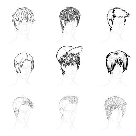 cool anime male hairstyles fade haircut