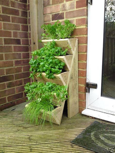 Herb  Strawberry Planter Raised Garden Pots Seed Plant Ebay