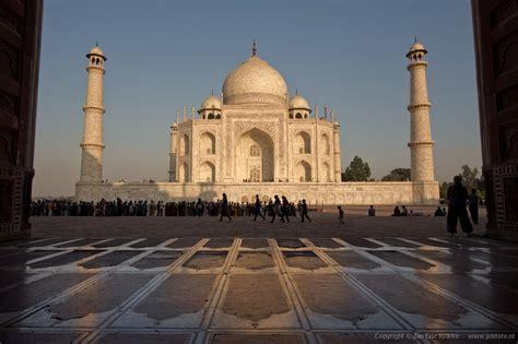 Agra - Taj Mahal vanuit de moskee | Noord India | Foto 60 ...