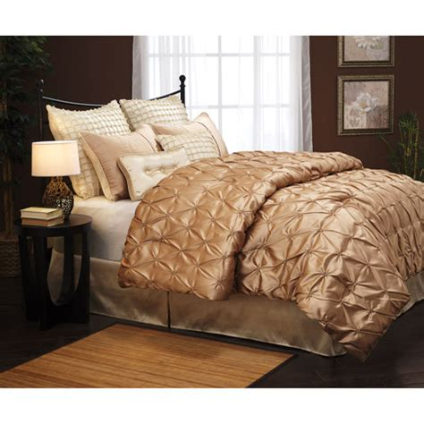 uma satin 8 piece bedding comforter set pin tuck comforter set faux silk comforter set