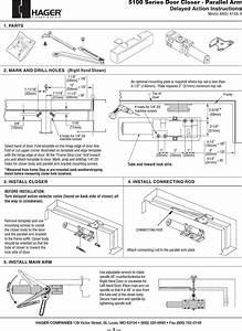 Hager 5100 Delay Install Pgs 06 18 07 5100 Series Door