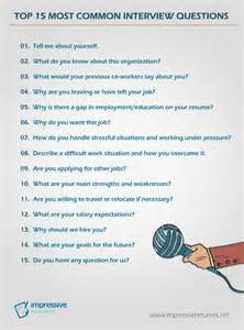 most common resume questions 25 best ideas about most common questions on