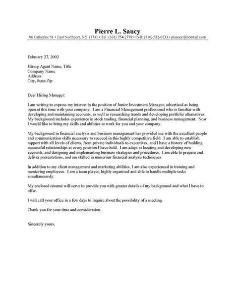 Cover Letter Entry Level Position Cover Letter Entry Level Application Letter