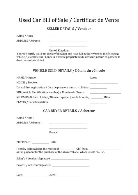 example of bill of sale best photos of vehicle bill of sale example as is