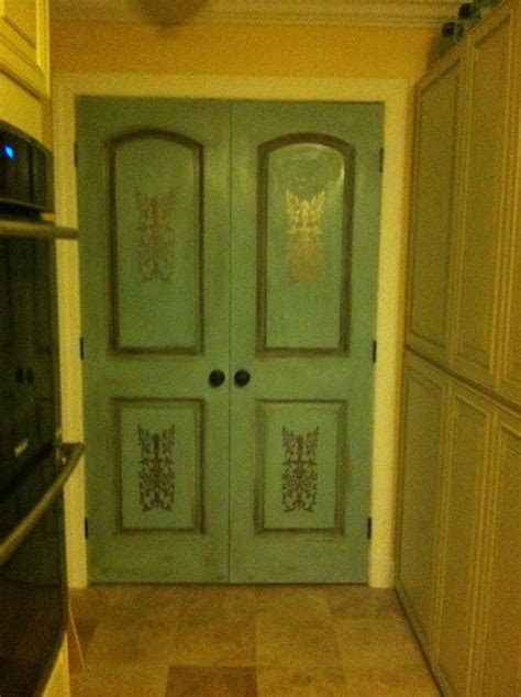 My pantry door painted with ASCP   Annie Sloan Chalk Paint