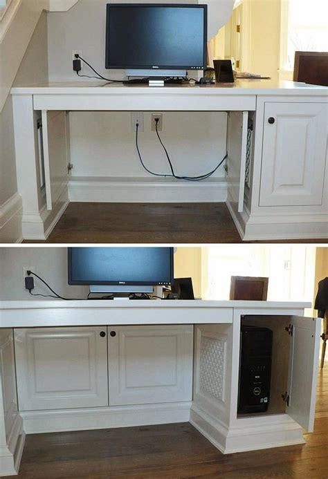 desk that hides wires conceal computer cables make unsightly computer cables a
