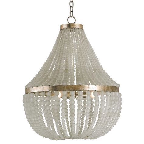 edisto regency style white beaded chandelier