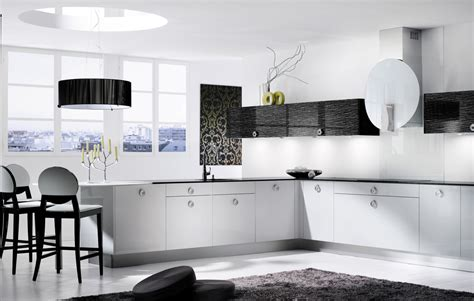Black And White Kitchen Designs From Mobalpa by Descent Black And White Kitchen Design Stylehomes Net
