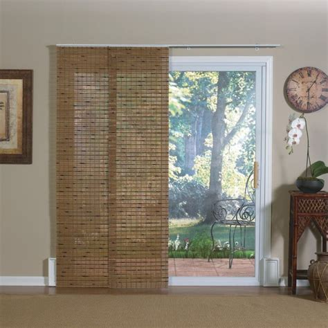 pecan bamboo windows and patio doors track panels