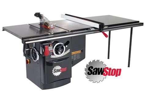 table saw safety stop sawstop industrial cabinet tablesaw ics 10 inch