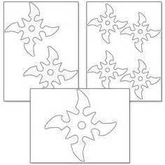 ninja star pattern   printable outline  crafts