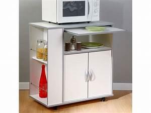 buffet de cuisine blanc pour micro ondes rack mothy With deco cuisine pour buffet blanc