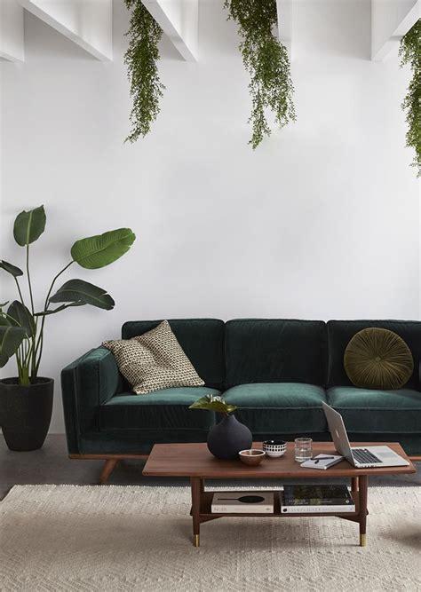 trend scout   velvet sofas living room green