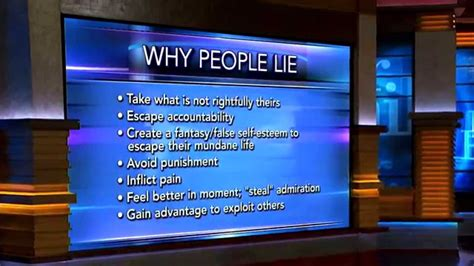 dr phil lists  reasons  people lie youtube