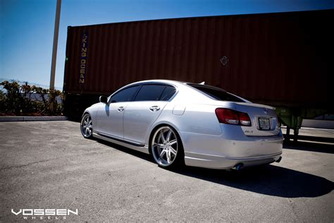lexus gs300 slammed silver lexus gs slammed on the new vossen vvs 086 matte