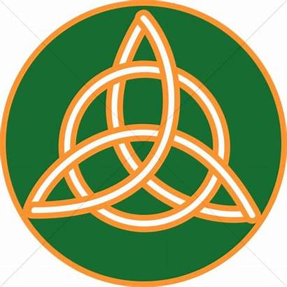 Trinity Celtic Knot Gold Clipart Trimmed Symbol
