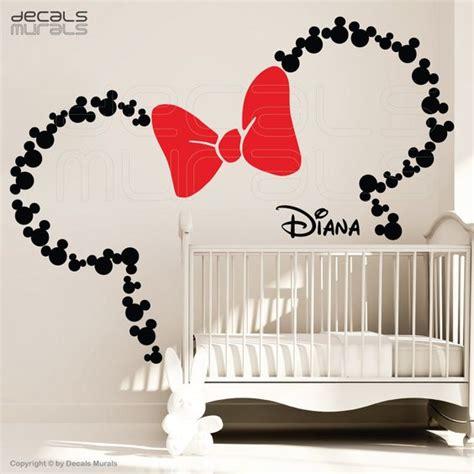 minnie mouse wandtattoo mickey e minnie na decora 231 227 o do quarto de beb 234 mais de 900 quartos de beb 234 quarto para beb 234