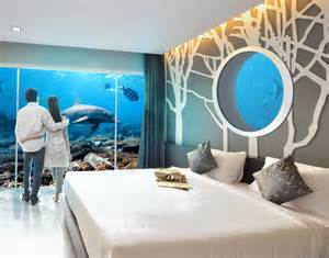 underwater rooms and holographic personal trainers hotels