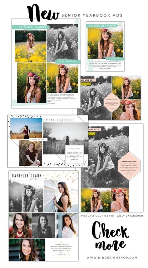 yearbook ad templates new senior yearbook ads birdesign