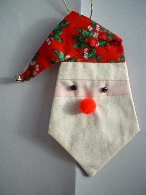 pinwheel ponders paper pieced santa ornament