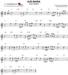 Ave Maria Schubert Guitar Sheet Music