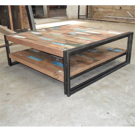table basse bois fer table haute maisonjoffrois