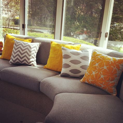 accent pillows for grey sofa yellow pillows for sofa 11 sizes available one grey or