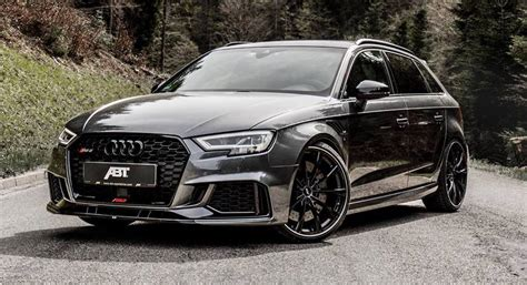 audi rs3 tuning abt s 493hp audi rs3 sportback can outrun not so