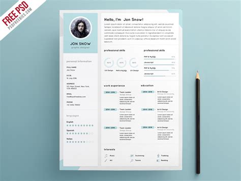 Free Photoshop Resume Templates by 55 Premium Free Psd Cv Resumes For Creative To