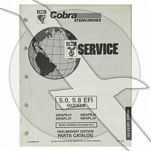 1993 Omc Cobra 5 0l 302 5 8l 351 Efi Engine  U0026 Sterndrive Parts Diagram Catalog