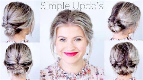 simple elegant updo hairstyles  medium length hair