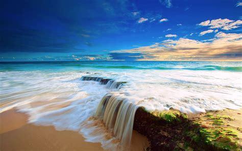 blue sky sea wallpaper hd wallpaper