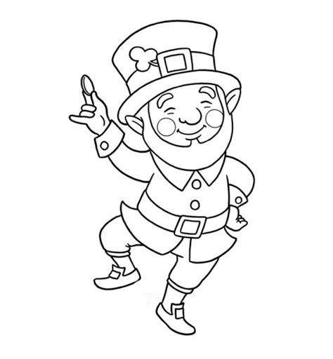 leprechaun clipart black and white leprechaun coloring pages getcoloringpages