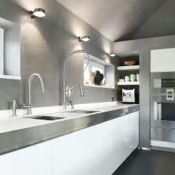 stainless steel faucets kitchen beautiful modern kitchen with white cabinets stainless
