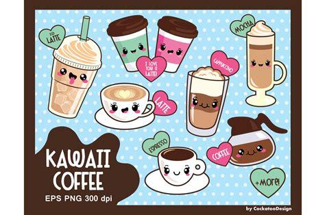 Kawaii Clipart by Kawaii Coffee Illustrations Creative Market