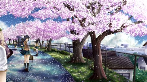 Tree Anime Wallpaper - anime cherry blossom wallpaper 72 images