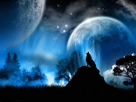 wolfnmoon fantasy abstract background wallpapers