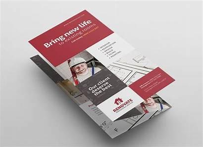 Tri Fold Brochure Template Tradesman Photoshop Previews